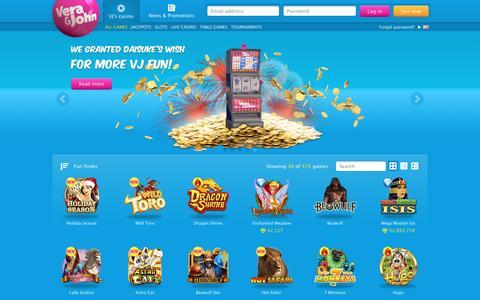 Screenshot of Home Page verajohn.com - Play casino online at Vera&John - An online casino | Vera&John - captured Nov. 23, 2016