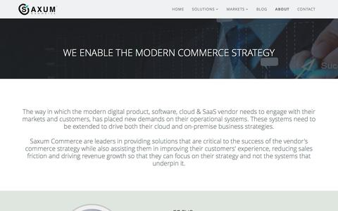 Screenshot of About Page saxumcommerce.com - About - Saxum Commerce - captured May 28, 2017