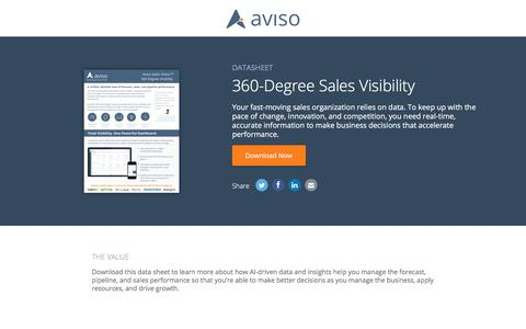 360-Degree Sales Visibility   Aviso