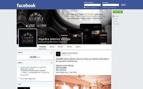 Screenshot of Facebook Page facebook.com - Algedra interior design | Facebook - captured Oct. 23, 2014