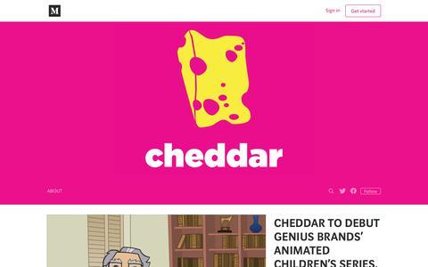 Screenshot of Blog cheddar.com - Cheddar - captured July 8, 2018