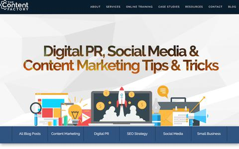 Screenshot of Blog contentfac.com - Digital PR, Social Media & Content Marketing Tips & Tricks - captured Jan. 16, 2020