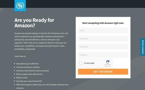 Screenshot of Landing Page spscommerce.com - Amazon eBook | SPS Commerce - captured Jan. 14, 2018
