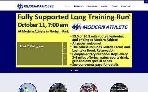 Screenshot of Home Page modernathlete.com - Modern Athlete | Florham Park Specialty Running Store - captured Oct. 7, 2014