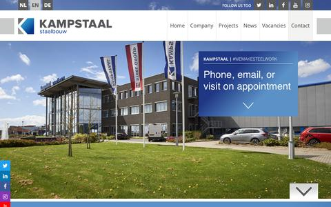Screenshot of Contact Page kampstaal.com - Contact - captured Nov. 15, 2018