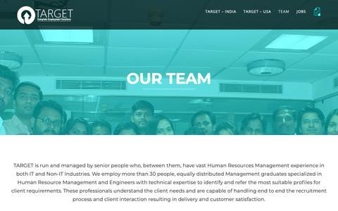Screenshot of Team Page targethr.us - Our Team | Target HR - captured Nov. 18, 2018