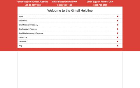 Screenshot of Home Page supportnumberaustralia.com - Gmail Support Number Australia +61-07-39111000 - captured May 4, 2017