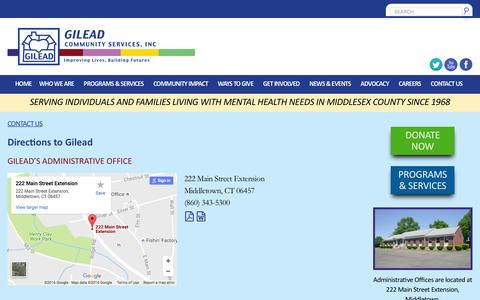 Screenshot of Maps & Directions Page gileadcs.org - Directions to Gilead - Gilead Community ServicesGilead Community Services - captured Nov. 6, 2016