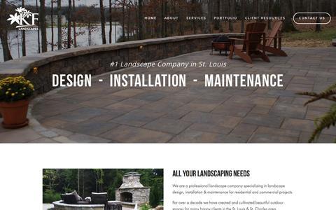 Screenshot of Home Page kflandscapes.com - KF Landscapes - captured Feb. 12, 2016