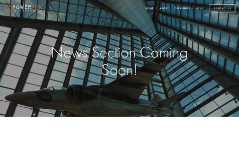 Screenshot of Press Page powerteninc.com - News — Power Ten, Inc. - captured May 20, 2017