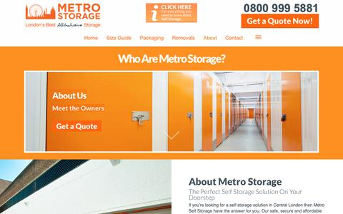 Screenshot of About Page metro-storage.co.uk - Secure Self Storage Facility in London, W2 & N1 | Metro Storage - captured Oct. 18, 2018
