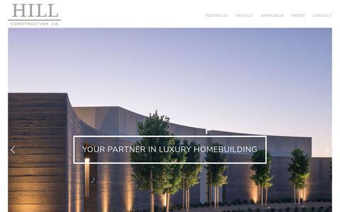 Screenshot of Home Page hillconstructioncompany.com - HOME - captured Aug. 6, 2019