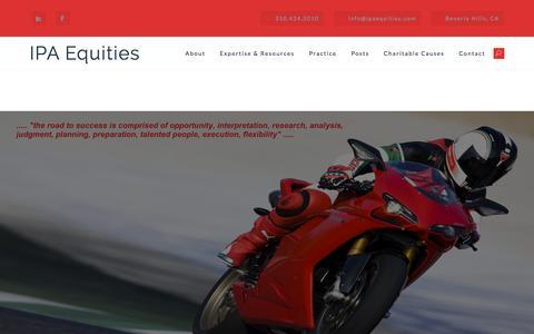 Screenshot of Home Page ipaequities.com - IPA Equities - captured July 27, 2018