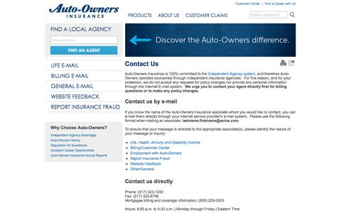 Contact Us   Auto-Owners Insurance