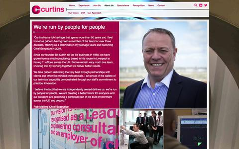 Screenshot of About Page curtins.com - About Us - Curtins Consulting - captured Dec. 14, 2015