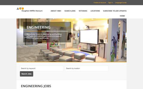 Screenshot of Jobs Page hmhco.com - Engineering Jobs - captured Aug. 4, 2017
