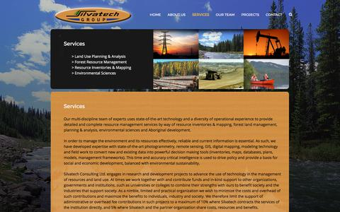 Screenshot of Services Page silvatech.ca - Services – Silvatech Group - captured Oct. 21, 2017