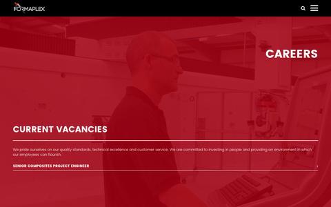 Screenshot of Jobs Page formaplex.com - Current vacancies – Formaplex - captured Nov. 25, 2016