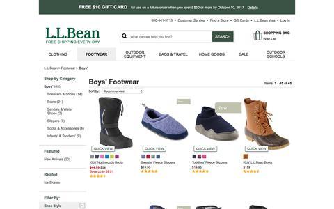 Boys' Footwear | Free Shipping at L.L.Bean