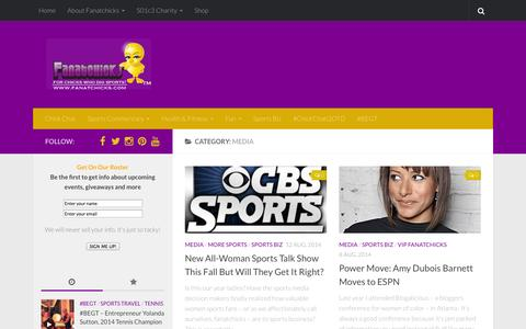 Screenshot of Press Page fanatchicks.com - Media | Fanatchicks - captured Oct. 5, 2014
