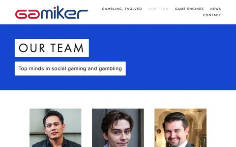 Screenshot of Team Page gamiker.com - Our Team — Gamiker Games - captured May 14, 2017