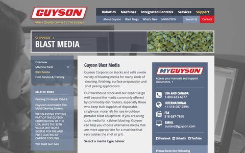Screenshot of Press Page guyson.com - Blast Media | Guyson - captured Dec. 16, 2018