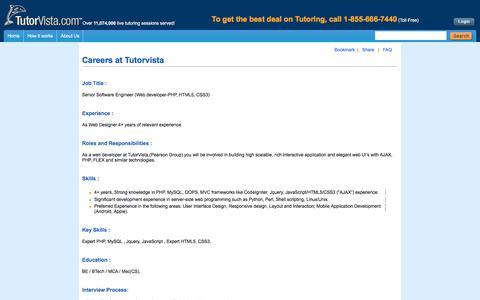 Jobs @ Tutorvista.com :: Tutorvista.com