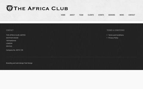 Screenshot of Privacy Page theafricaclub.com - Privacy Policy   The Africa Club - captured Sept. 30, 2014
