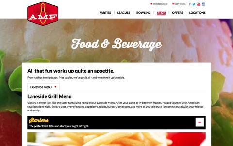 Screenshot of Menu Page amf.com captured Sept. 22, 2014