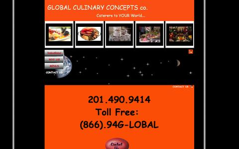 Screenshot of Contact Page homestead.com - GLOBAL Caterers Contact US - captured Sept. 19, 2014
