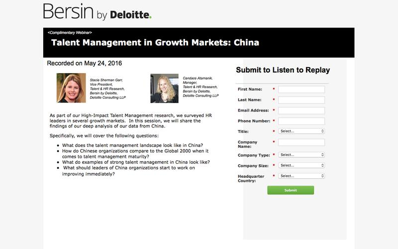 Talent Management in Growth Markets: China