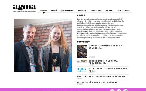 Screenshot of Home Page agma.fi - agmary - captured Oct. 9, 2017