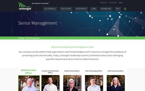 Screenshot of Team Page untangle.com - Team | Untangle - captured Nov. 3, 2016