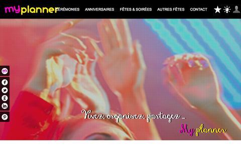 Screenshot of Home Page myplanner.fr - MYPLANNER - Vos plus beaux événements - captured Oct. 9, 2014