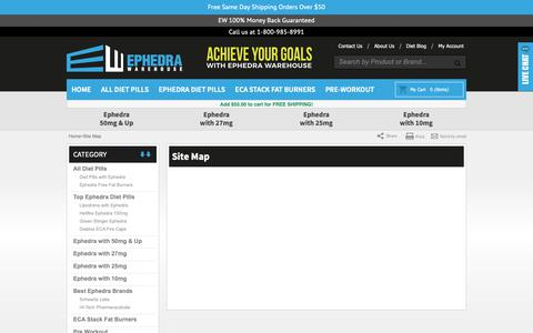 Screenshot of Site Map Page ephedrawarehouse.com - Site Map - captured Nov. 5, 2018