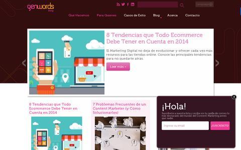 Screenshot of Blog genwords.com - Blog Marketing: Ecommerce, Medios Digitales, Empresas   Genwords - captured July 19, 2014