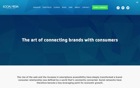 Screenshot of Home Page smbranding.be - Social Media Branding - Digital & Brand Activation Agency - captured Feb. 13, 2016