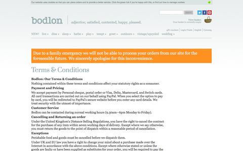 Screenshot of Terms Page bodlon.com - Bodlon Terms & Conditions | Bodlon - captured July 29, 2016