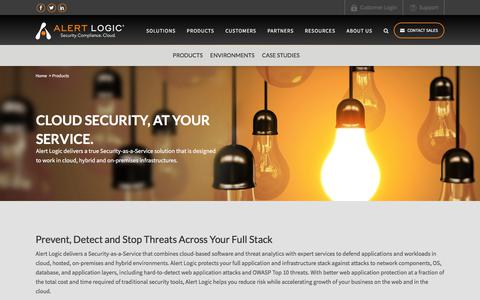 Cloud Security Solutions – Managed Security Services   Alert Logic