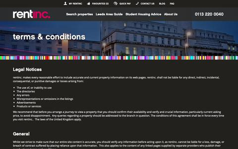Screenshot of Terms Page rentinc.co.uk - Rentinc - Terms and Conditions - captured Oct. 20, 2018