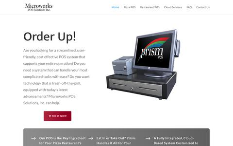 Screenshot of Home Page microworks.com - POS System | Microworks POS Solutions, Inc - captured Aug. 29, 2019