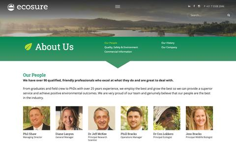 Screenshot of Team Page ecosure.com.au - Our People - Ecosure - captured Dec. 7, 2018
