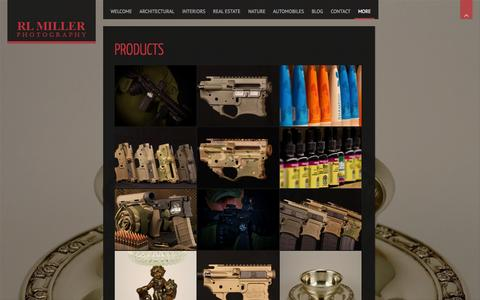Screenshot of Products Page rlmillerphoto.com captured Oct. 26, 2014