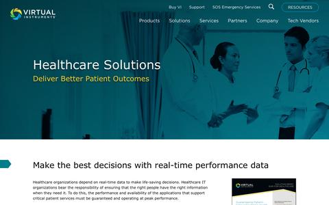 Healthcare Solutions - Virtual Instruments
