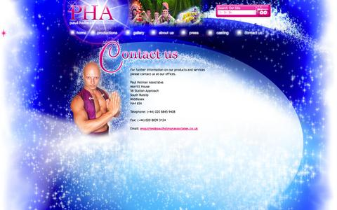 Screenshot of Contact Page paulholmanassociates.co.uk - Paul Holman Associates > Contact Us - captured Sept. 30, 2014