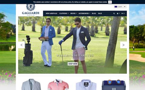 Screenshot of Home Page gagliardi.eu - Men's Clothing and Designer Menswear | Gagliardi Est. 1964 - captured July 19, 2015