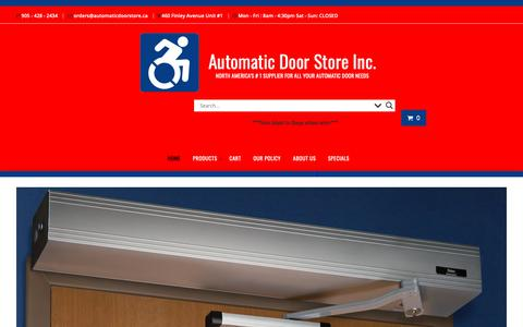 Screenshot of Home Page automaticdoorstore.ca - Automatic Door Store Inc. – NORTH AMERICA'S # 1 SUPPLIER FOR ALL YOUR AUTOMATIC DOOR NEEDS - captured Oct. 4, 2018