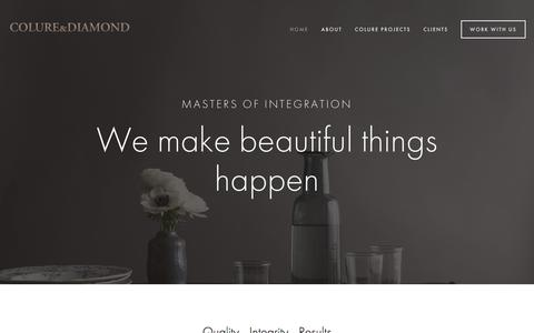 Screenshot of Home Page colureanddiamond.com - Colure and Diamond - captured July 20, 2018