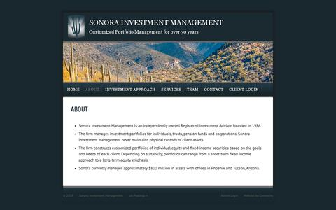 Screenshot of About Page invmgmt.com - About Us — Sonora Investment Management - captured Oct. 19, 2018
