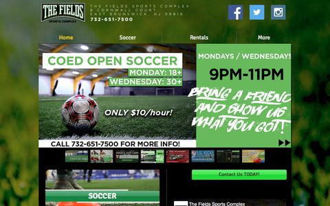 Screenshot of Home Page thefieldssportscomplex.com - THE FIELDS Indoor Sports Facility - captured Nov. 7, 2017